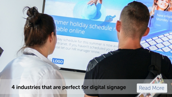 4 industries that are perfect for digital signage